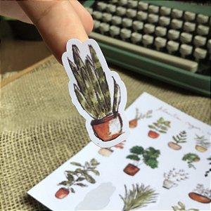 Kit 3 adesivos plantas