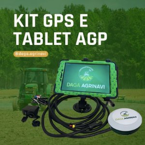 Kit Gps Agrícola AGP Daga Agrinavi Com Tablet