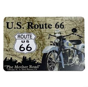 Placa de Metal Route 66