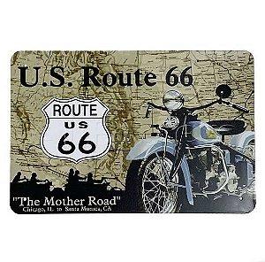 Placa de Metal Route 66