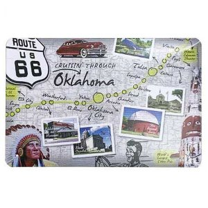 Placa de Metal Route 66 - Oklahoma