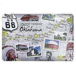 Placa de Metal Route 66 - Oklahoma