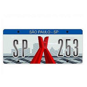 Placa Decorativa de Carro em MDF - São Paulo