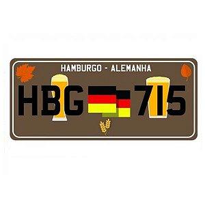 Placa Decorativa de Carro em MDF - Hamburgo Alemanha