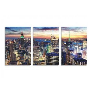 Kit 3 Placas Decorativas em MDF Cidade de Nova York