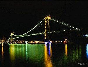 Placa Decorativa em MDF - Ponte Florianópolis