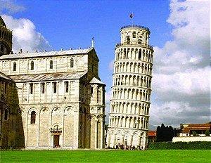 Placa Decorativa em MDF - Torre de Pisa Itália