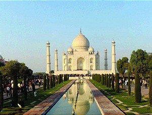 Placa Decorativa em MDF - Taj Mahal