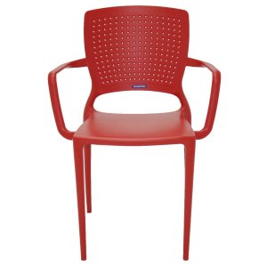 Cadeira Safira Vermelha Tramontina 92049040