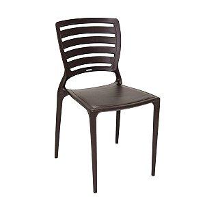 Cadeira Encosto Horizontal Vazado Sofia Summa Marrom  Tramontina 92237109