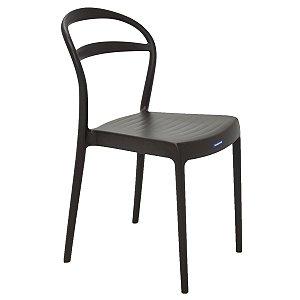 Cadeira de Encosto Vazado Sissi Marrom Tramontina 92047109