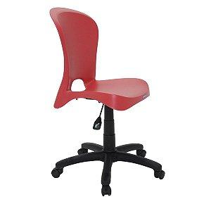 Cadeira com Rodízio Jolie Vermelha Tramontina 92070040