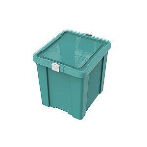Caixa Organizadora 42L Laundry Verde Claro Tramontina 92552021