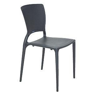 Cadeira Encosto Vertical Fechado Sofia Summa Grafite Tramontina 92236007
