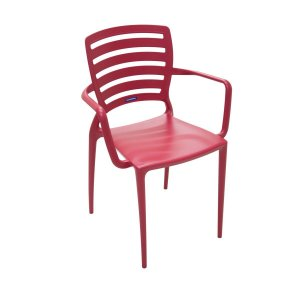 Cadeira de Encosto Horizontal Vazado Sofia Vermelha Tramontina 92036040