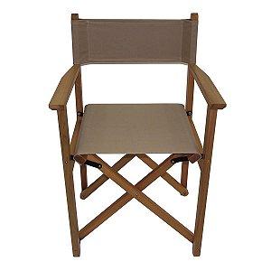 Cadeira de Diretor Dobrável Bege Tramontina 10915080