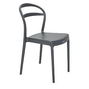 Cadeira de Encosto Vazado Sissi Grafite Tramontina 92047007