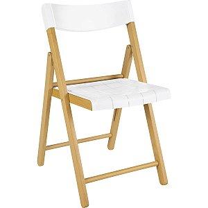 Cadeira de Madeira Dobrável Potenza Verniz com Branco Tramontina 13791080