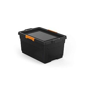 Caixa Organizadora 60L com Rodas Preta Tramontina 92556009