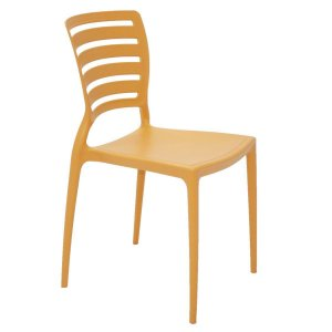 Cadeira Encosto Horizontal Vazado Laranja Sofia Tramontina 92237090