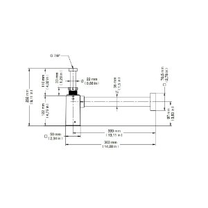 Sifão Para Lavatório Cromado Quadrado Docol Square 1.1/2