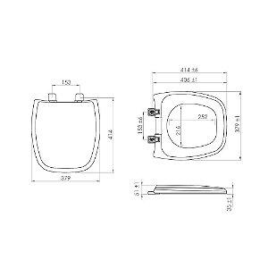 Assento Fit/Versato/Stylus Branco 7150067 Lorenzetti