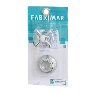 Acabamento registro gaveta/pressao pequeno fabrimar 1/2-3/4 pol cromad
