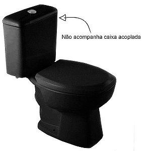 Vaso Sanitário para Caixa Acoplada Saída Vertical Thema Plus Preto Incepa