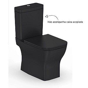 Vaso Sanitário para Caixa Acoplada Saída Vertical Boss Preto Incepa