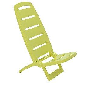 Cadeira Dobrável de Praia Guarujá Verde Tramontina 92051020