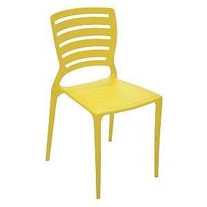 Cadeira Encosto Horizontal Vazado Sofia Amarelo Tramontina 92237000