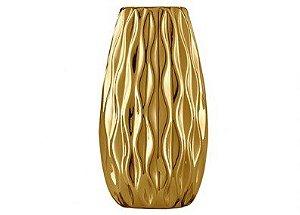 Vaso Dourado Em Ceramica Mart 5632