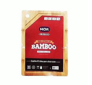 Tabua De Carne Churrasco Frios Petisco 35X25Cm Bamboo