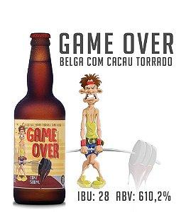 Cerveja Game Over - Belga com cacau torrado - Garrafa 500 ML