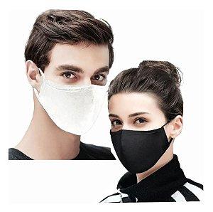 195 Máscaras De Tecido Duplo Algodão Lavável Não Descartável