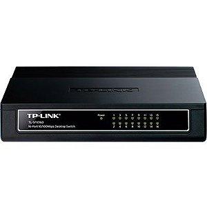 Switch 16 portas 10/100 Mbps não gerenciável TL-SF1016D Tp Link