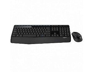 Teclado e mouse sem fio Logitech MK345 padrão ABNT II