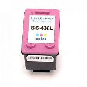 Cartucho Compativel HP 664XL colorido F6V30AB