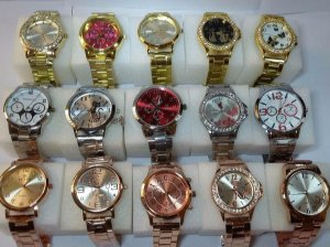 Kit 10 Relógios Femininos + Brincos + Correntiha + Caixas