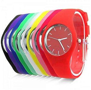 Kit 10 Relógios Femininos Colors em Silicone + Caixinhas
