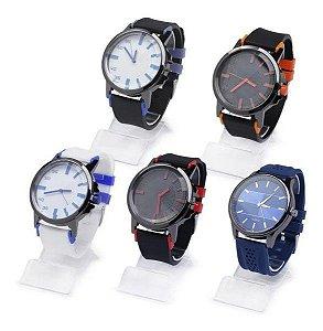 Kit 10 Relógios Masculinos Sem Marca em Silicone + Caixas