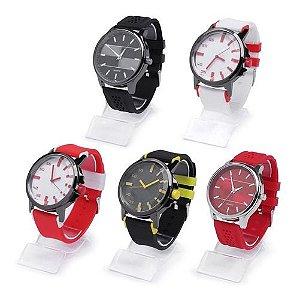 Kit 05 Relógios Masculinos Sem Marca em Silicone + Caixas