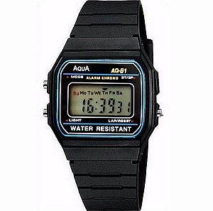 Relógio A Prova D'agua Aqua Masculino Feminino Casual Digital