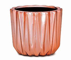 CACHEPOT ROSE GOLD EM CERAMICA (7CM)