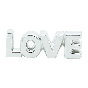 LOVE PRATA EM CERAMICA