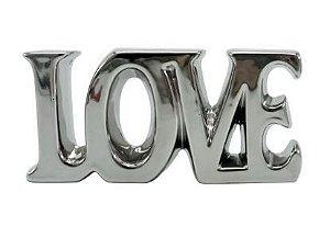 LOVE EM RESINA PRATA