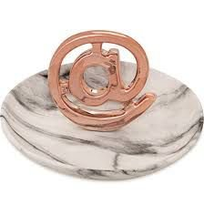 PORTA BIJOUX ARROBA ROSE GOLD