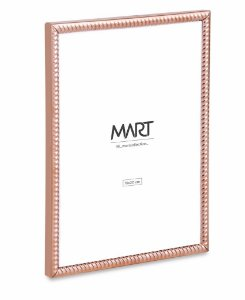 PORTA-RETRATO ROSE GOLD FRISADO EM METAL - 15X20