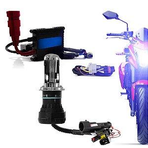 Kit Xenon Bi Xenon h4-3 8000k para Motos