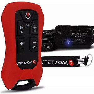 Controle Longa Distância Stetsom SX4 Control Alcance 200 Metros Vermelho
